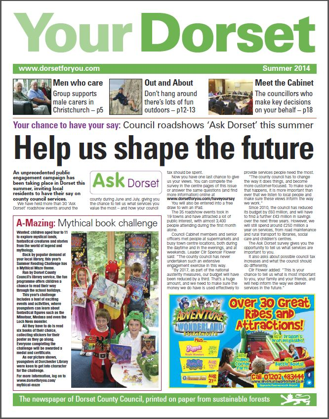 Front Page of Your Dorset Publication