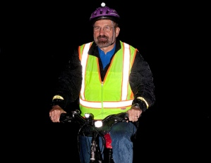 Cycling in high vis at night