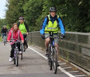 Cycling on cycle path
