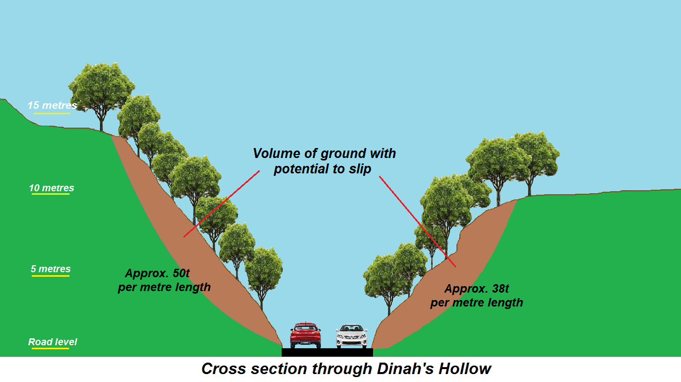 Dinah's Hollow slope stabilisation safety work to receive funding