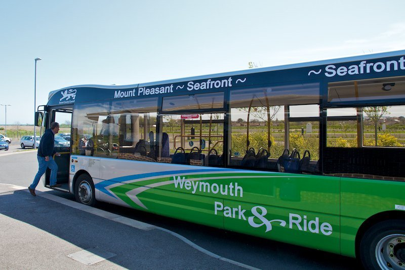 Weymouth Park and ride bus