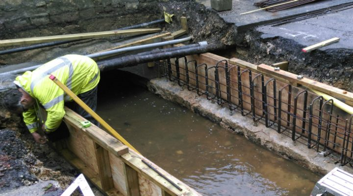 Formwork for new culvert