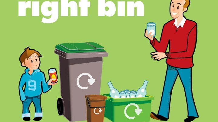 Cover of Right stuff, right bin leaflet for residents
