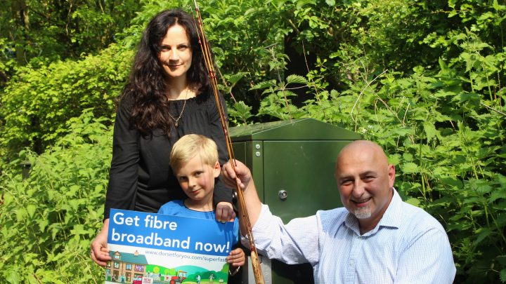 Tom, Bea and Regula Kacper celebrate the 500th Superfast Dorset cabinet