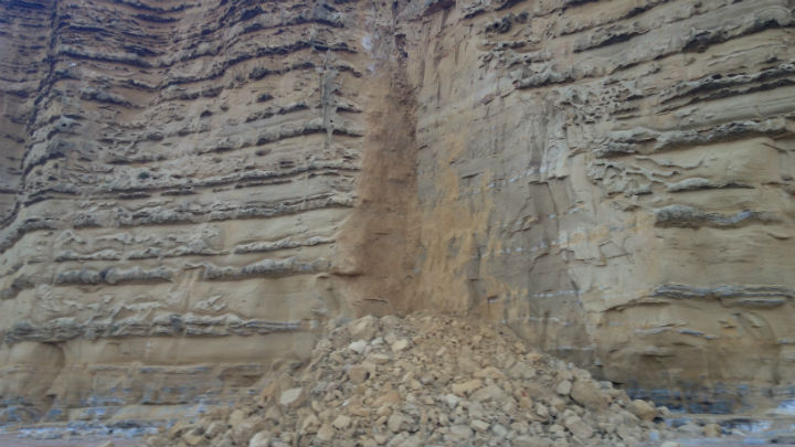 Take extra care on the Jurassic Coast following rock fall