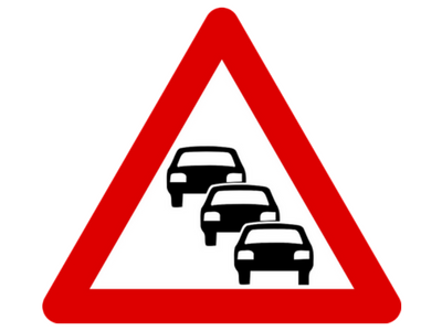 traffic queuing icon