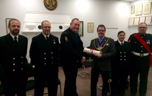 Sea Cadets presented freedom of the borough
