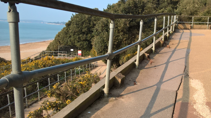 Highcliffe Castle Zig-Zag path