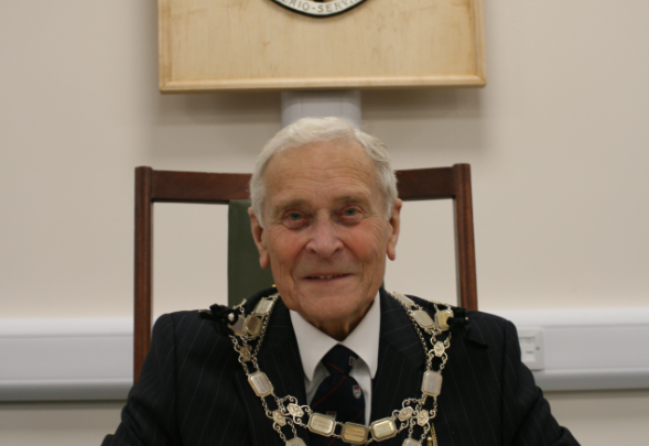 Cllr Derek Burt, Chairman of East Dorset District Council