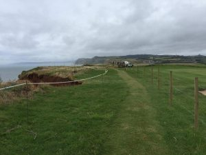 New route of coast path at West Bay