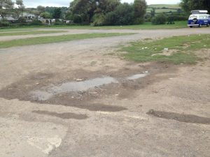 damaged car park surface