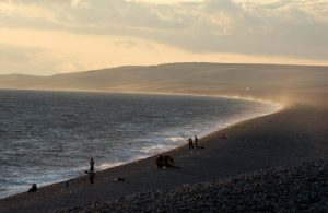 Ground investigation works at Chesil Cove