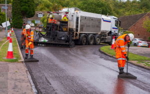 Micro-surfacing works in Dorset