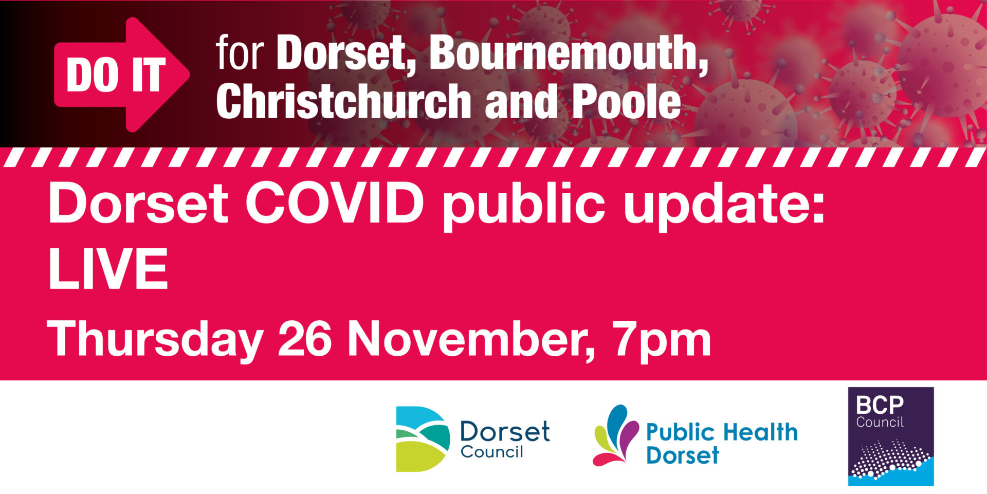 Dorset COVID public update: live this Thursday