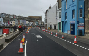 Final works for temporary measures in Weymouth