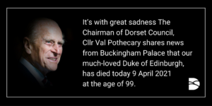 Dorset Council pays tribute to HRH the Duke of Edinburgh