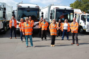 Dorset Council celebrates the successful changing of bin collections for 34,000 households