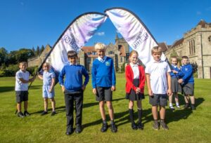 Children from North Dorset primary schools help to launch the Festival of the Future from St Mary's School near Shaftesbury